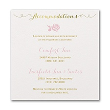 Antique Shimmer - Invitation